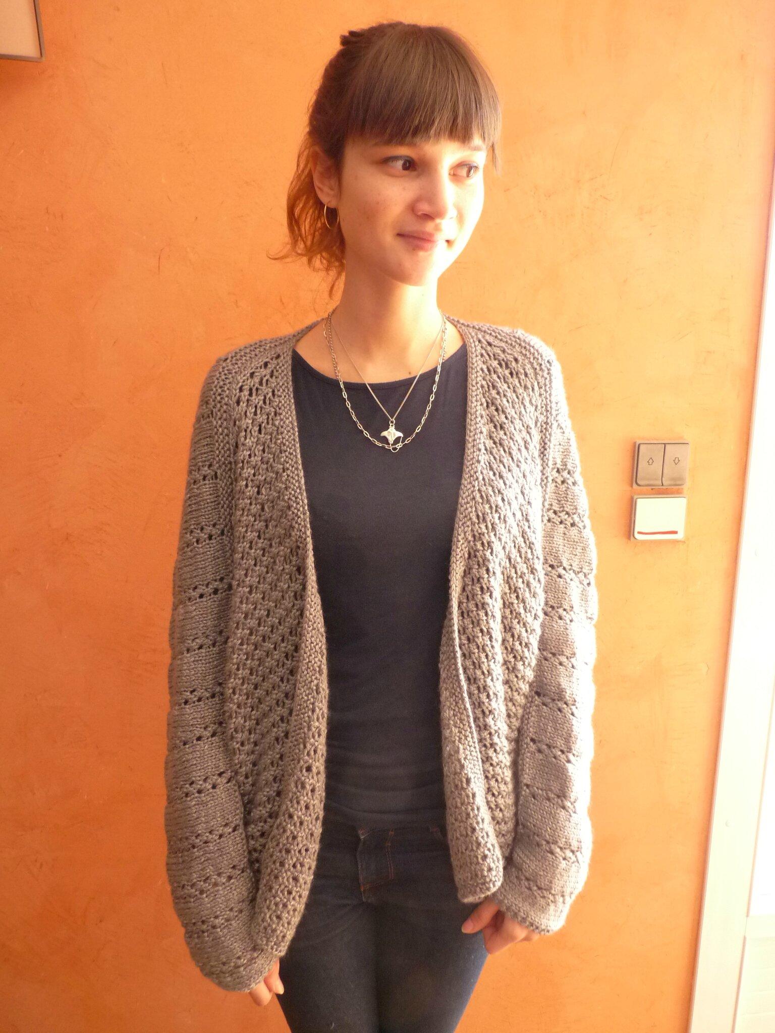 tricot gilet femme