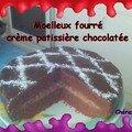 Moelleux fourré crème patissière chocolatée