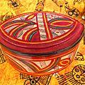 Boite en bois recouvertes de cuir : motifs touareg