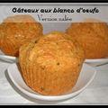 Gâteaux aux blancs d'oeufs : version salée...