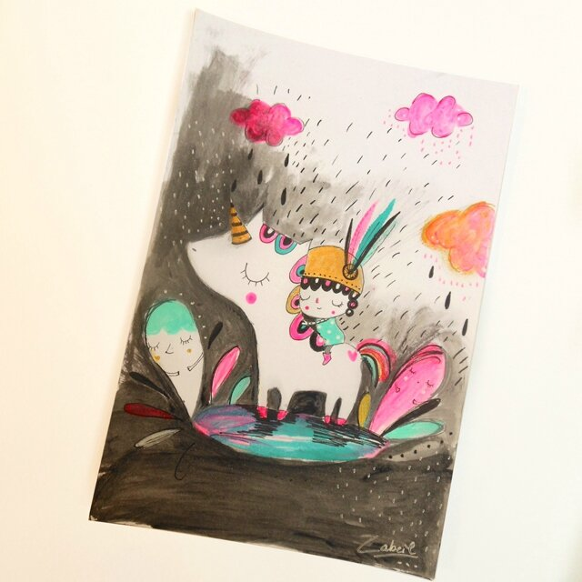 zabeil-peinture-illustration-licorne-lilipinso-instagram