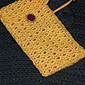 Pochette jaune crochet 2