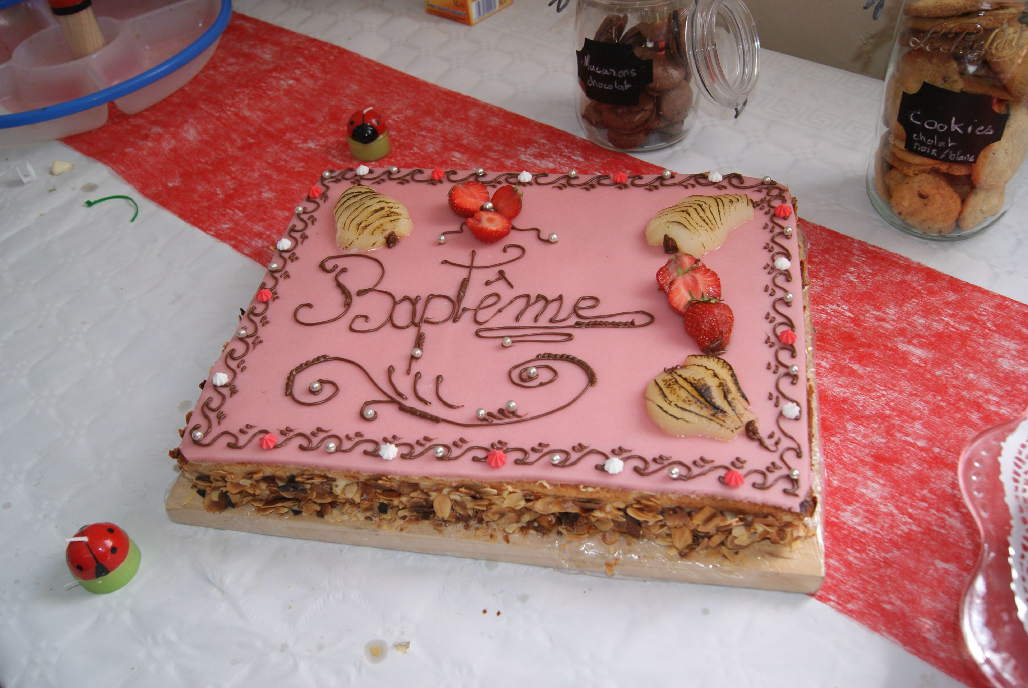 decoration gateau bapteme