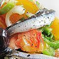 Salade du soleil à l'anchois mariné