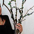 Bouquet de bois et calcin campagne de recyclage du verre