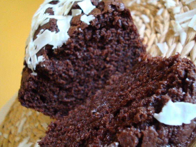 gâteau chocolat /lait de coco - chez cathytutu, défis