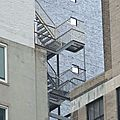 New York City : escaliers de faade
