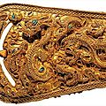 Buckle. gold, l 9.4cm. 1st century. nangnang commandery, seogam-ri tomb no.9, korea. national treasure no. 89