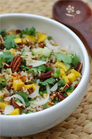 Salade de riz, mangue, concombre, coriandre_1