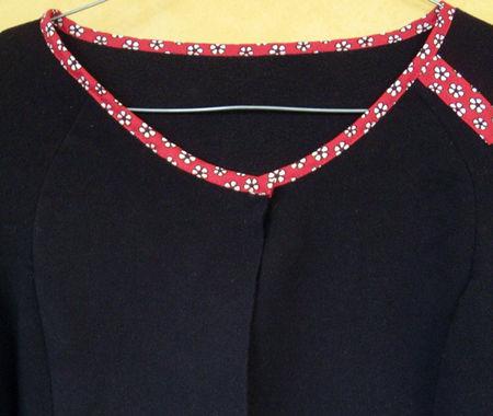 des plumes et des chas_ creations textiles_ piece unique_customisation_polaire