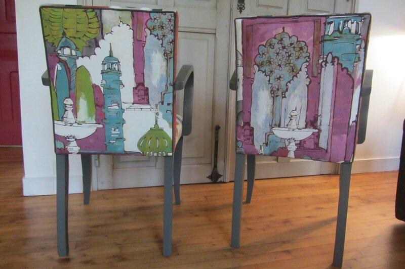 patchwork sur fauteuil Brest côté sièges