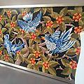 Canevas oiseaux seventies