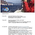 Agenda de la mer : mars 2018 - agenda of the sea : march 2018