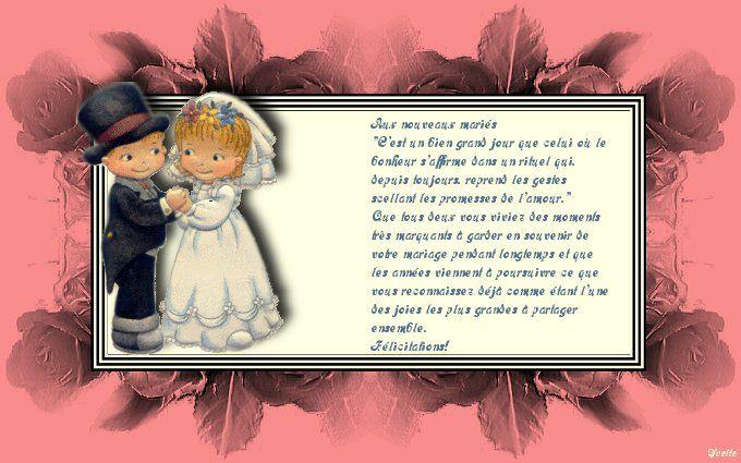 mes cartes de felicitations de mariage - Poeme Felicitation Mariage