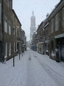Avranches rue 3 Rois neige 12 mars 2013
