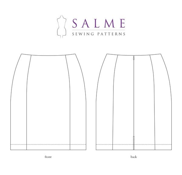 Salme Patterns - Fitted Panel Skirt