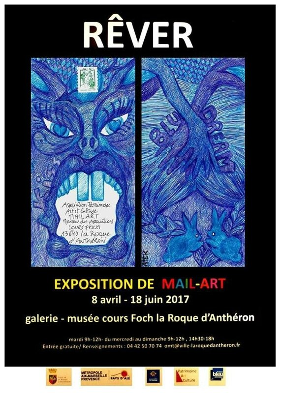 ATEK 2017 Affiche Expo Mail Art 8 avril-18 juin 2017 La Roque d'Anthéron