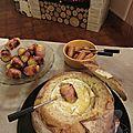 Fondue au Camembert dans son pain boule