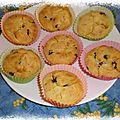 Muffins à la clémentine et aux pépites de chocolat