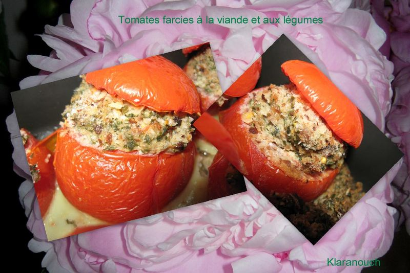 tomates farcies la viande et aux l gumes la tambouille de klaranouch. Black Bedroom Furniture Sets. Home Design Ideas