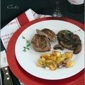 Médaillons de bœuf grillés, poêlée de cremini & pdt rôties a la graisse de canard - medallones de res, cremini & papas .....
