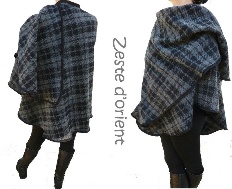 Grande_cape_écossais_gris_noir