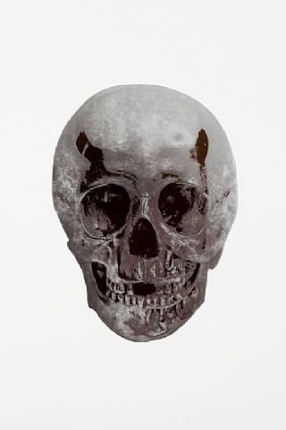 Damien Hirst, The Dead Silver Gloss Gunmetal Skull , 2009