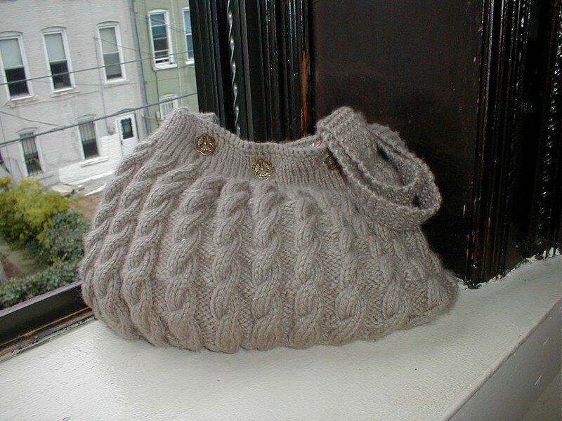 Design sac avec cables album photos couture crochet tricot