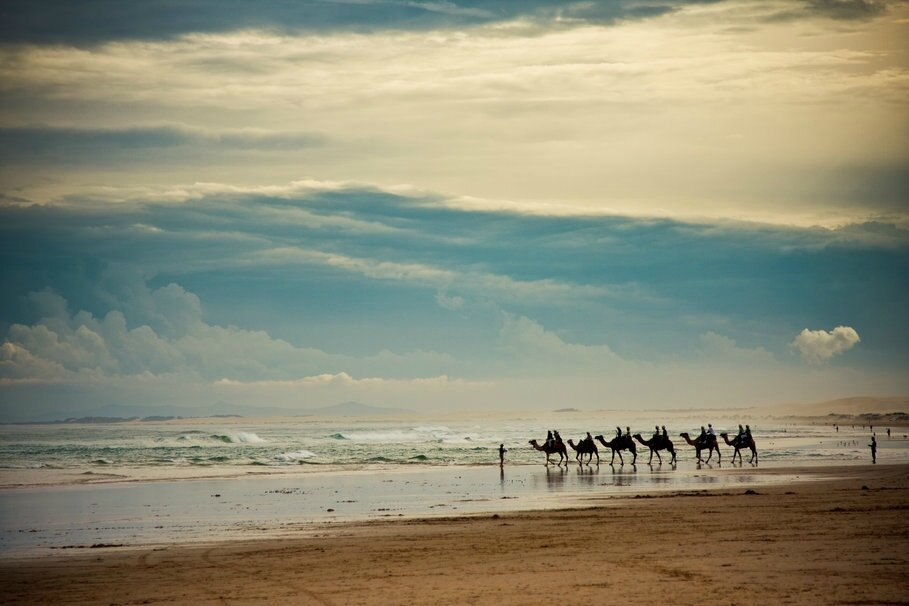 213484__landscape-sea-waves-sky-clouds-beach-sand-horizon-people-caravan-camels_p