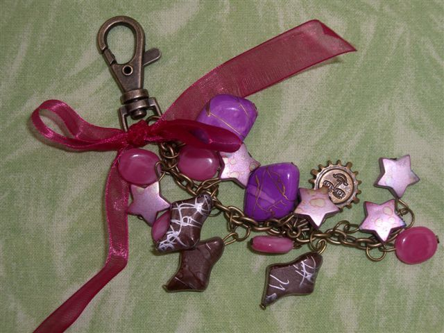 Porte-clés Pink Breloques