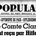 Frédéric adler, secrétaire de l'internationale socialiste, sur le début de la guerre de 1939.