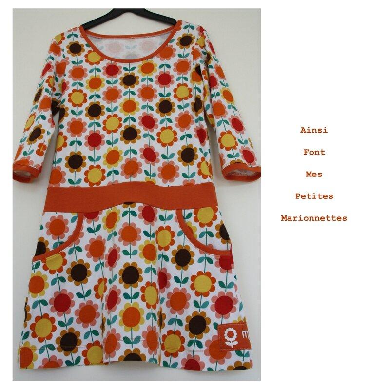 robe fleurs oranges 3