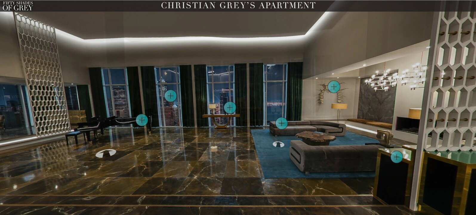 L 39 appartement de christian grey pr sent par sam taylor for Chambre 50 nuances de grey