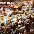Frites au fromage et bacon allégées ou skinny texas cheese fries.