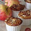 Muffins au yaourt, avoine, pomme & framboise
