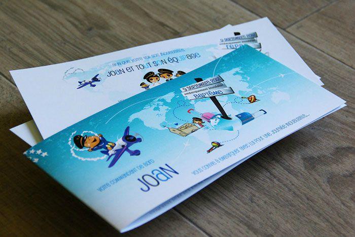 """Connu Faire-part de baptême thème """"avion"""" - AVOSZAMOURS, le petit blog  NL86"""