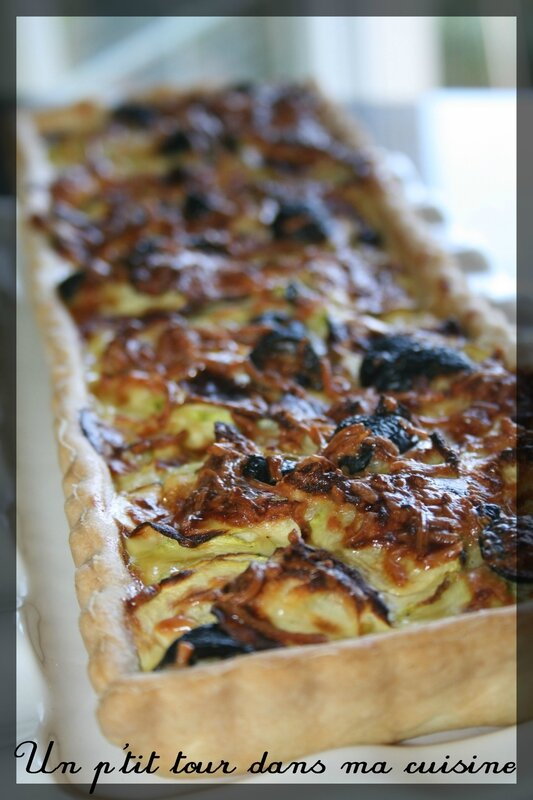 Tarte courgettes olives2