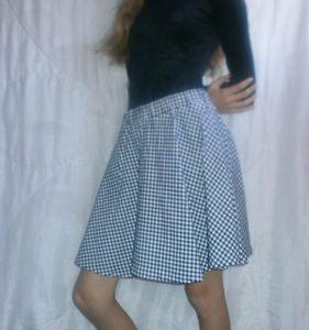 jupe carreaux bleu blanc