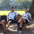 Tamirez et Rubi avant l entrainement