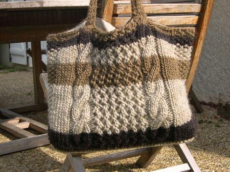 comment tricoter un sac a main en laine