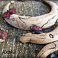 Torque bois flotté et papillons