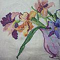 Bouquet d'iris DMC - en-cours (10)