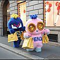 Piro chan charm vison rose - bug kun charm vison bleu - fendirumi - fendi - + video contre l'elevage de visons