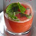 Sorbet tomates basilic et menthe