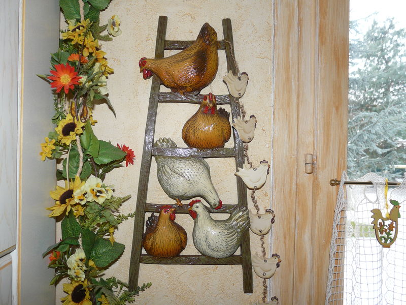 Echelle poules d cor suspendre for Poules decoration