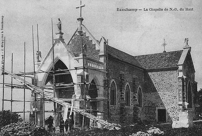 CPA Ronchamp Notre-Dame du Haut 1925