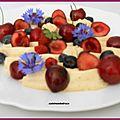 Assiette de mascarpone vanillé et fruits rouges