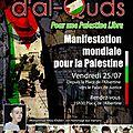 Manifestation « journée mondiale d'al-quds » vendredi 25 juillet à bruxelles.