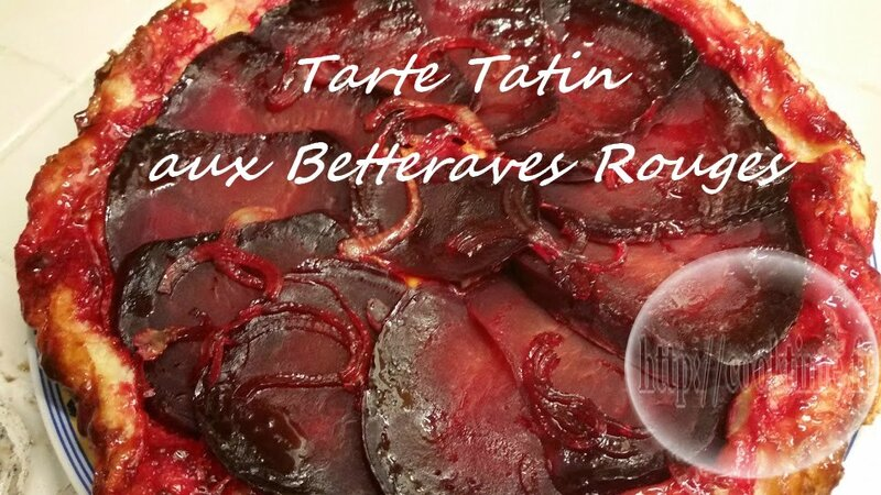 Tarte tatin aux betteraves rouges 3