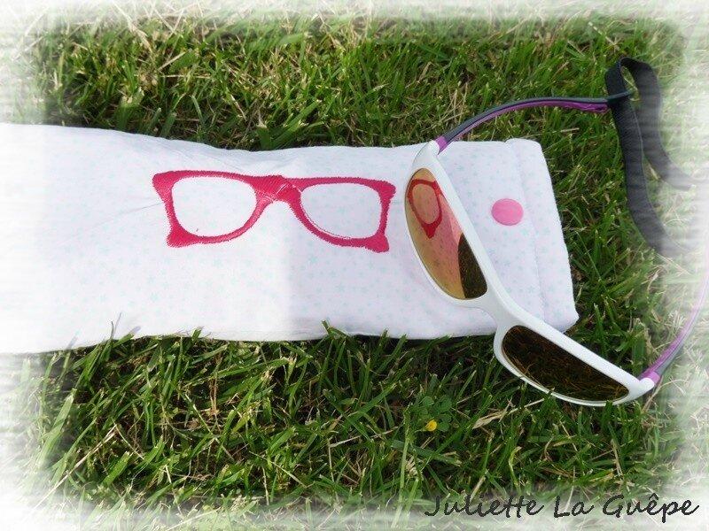 étui à lunettes rose 4